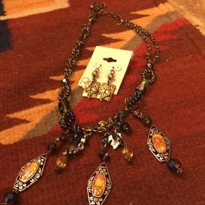 Chico's necklace and earrings set